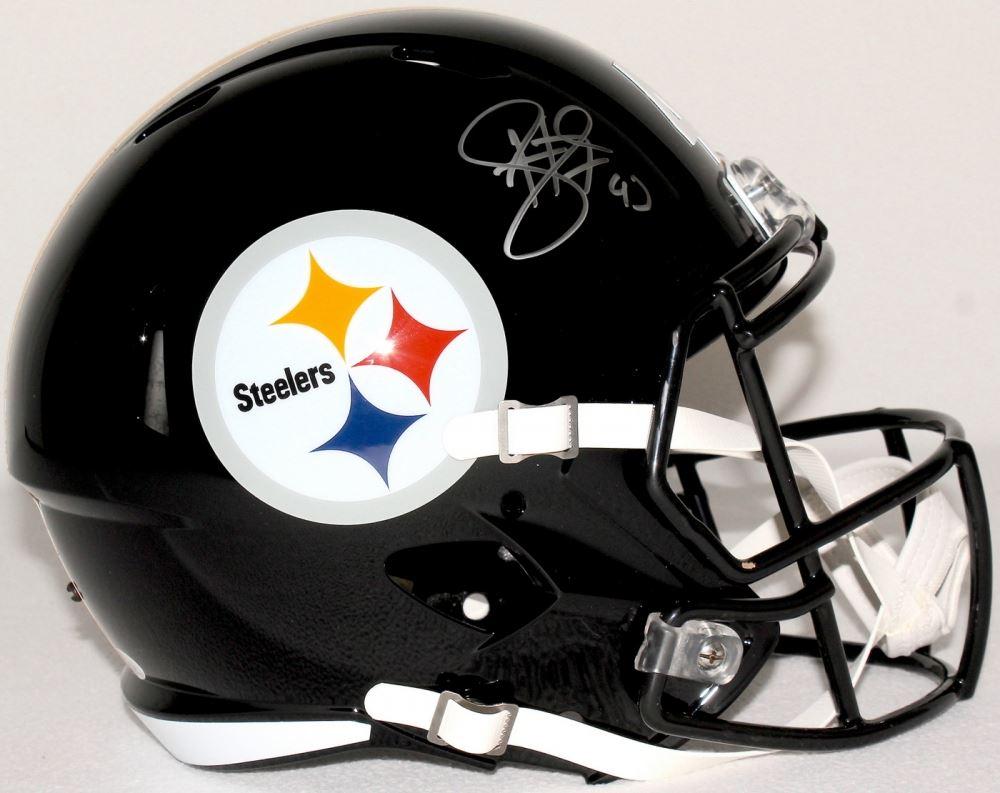 sports shoes 95ada 0ea50 Troy Polamalu Signed Steelers Full-Size Helmet (JSA COA)