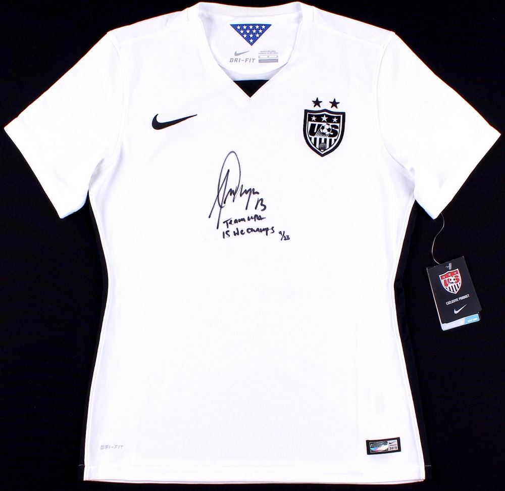 7ad716de6bb Image 1 : Alex Morgan Signed LE 2015 Team USA Nike Authentic Jersey  Inscribed
