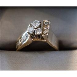 Ladies 14K Custom Made Diamond Engagement Ring