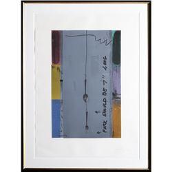 Jasper Johns, Screen Piece (Fork), Silkscreen