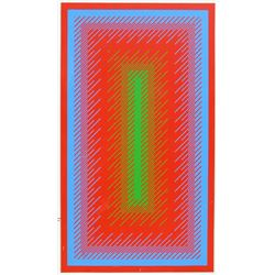 Richard Anuszkiewicz, Reflections IV (Panel 34), Hand-Painted Screenprint