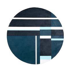 Ilya Bolotowsky, Blue Tondo, Oil Painting