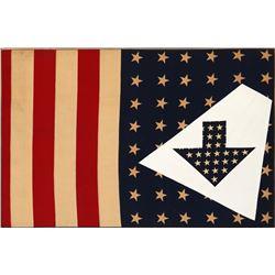 Paul von Ringelheim, Untitled - American Flag and Arrows (36), Oil Painting