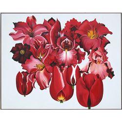Lowell Blair Nesbitt, Island of Red Flowers, Oil Painting