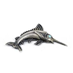 Mexican Taxco Sterling Silver Sailfish Pin