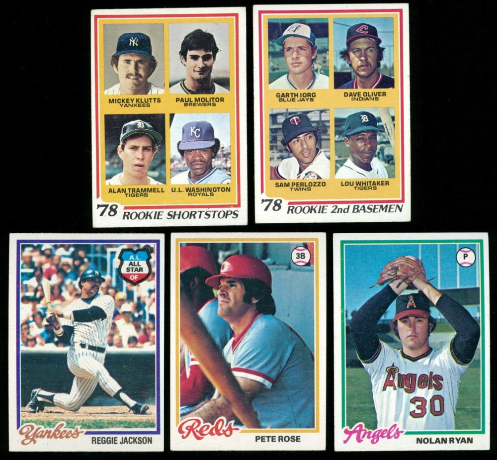 Lot Of 5 1978 Topps Baseball Cards With 707 Rookie