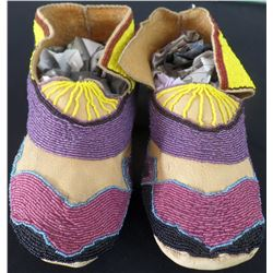 Beaded Deerskin Moccasins