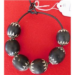 Rare Black Chevron Trade Beads