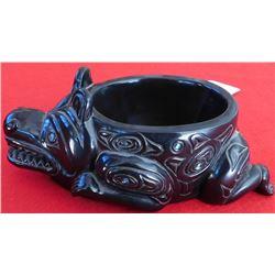 Northwest Coast Style Bear Bowl