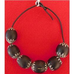 Rare Black Chevron Trade Beads