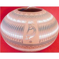 Navajo Polychrome Engraved Olla
