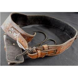 Tooled Leather Belt & Holster