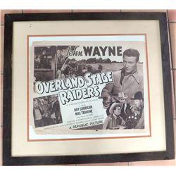 Old John Wayne Movie Poster