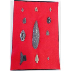 Prehistoric Obsidian Points