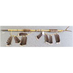Native American Spear w/Antler Bone