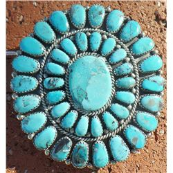 Zuni Sterling Silver & Turquoise Buckle