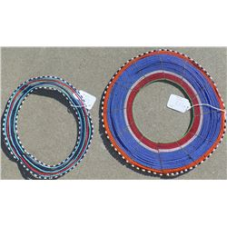 2 Large Zulu Beaded Necklaces