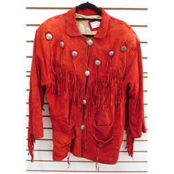 Red Fringed Leather Jacket