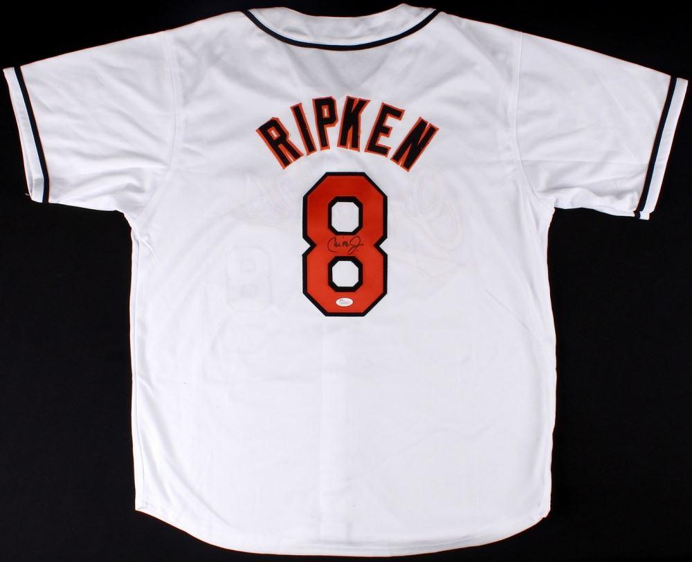 new arrival 2bd6b f2526 Cal Ripken Jr. Signed Orioles Jersey (JSA COA)