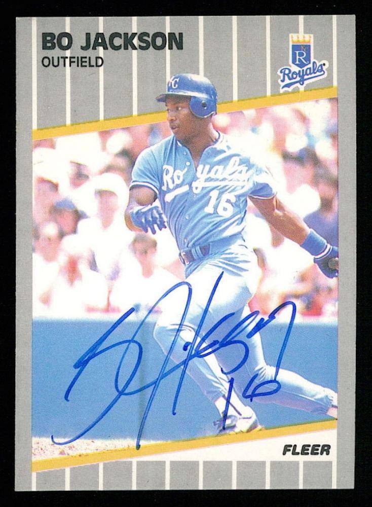 Bo Jackson Signed 1989 Fleer 285 Baseball Card Jsa Coa