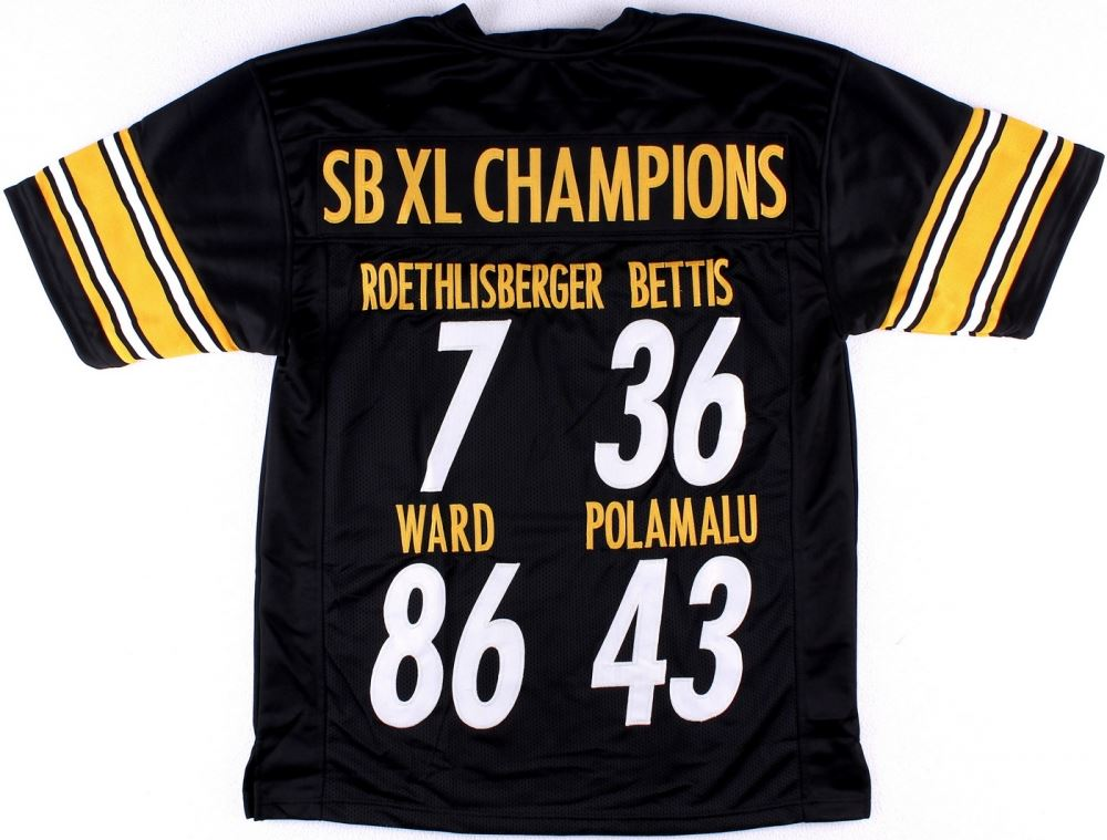 super popular bf90b 05393 Super Bowl XL Champions Ben Roethlisberger, Jerome Bettis ...
