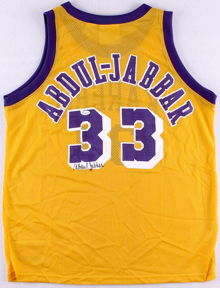 best service 30893 35b56 Kareem Abdul-Jabbar Signed Lakers Jersey (JSA COA)