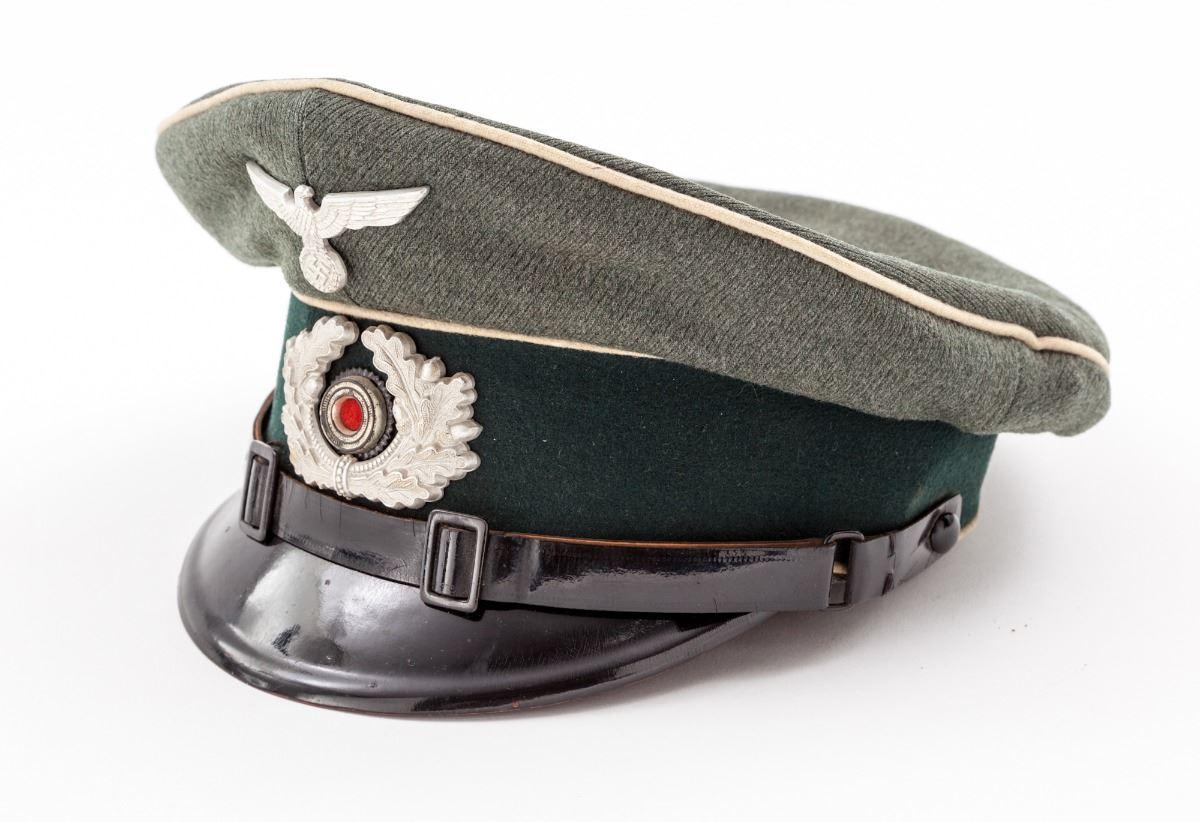 99431b54a08 Image 1   WWII German Army Infantry NCO Visor Cap ...