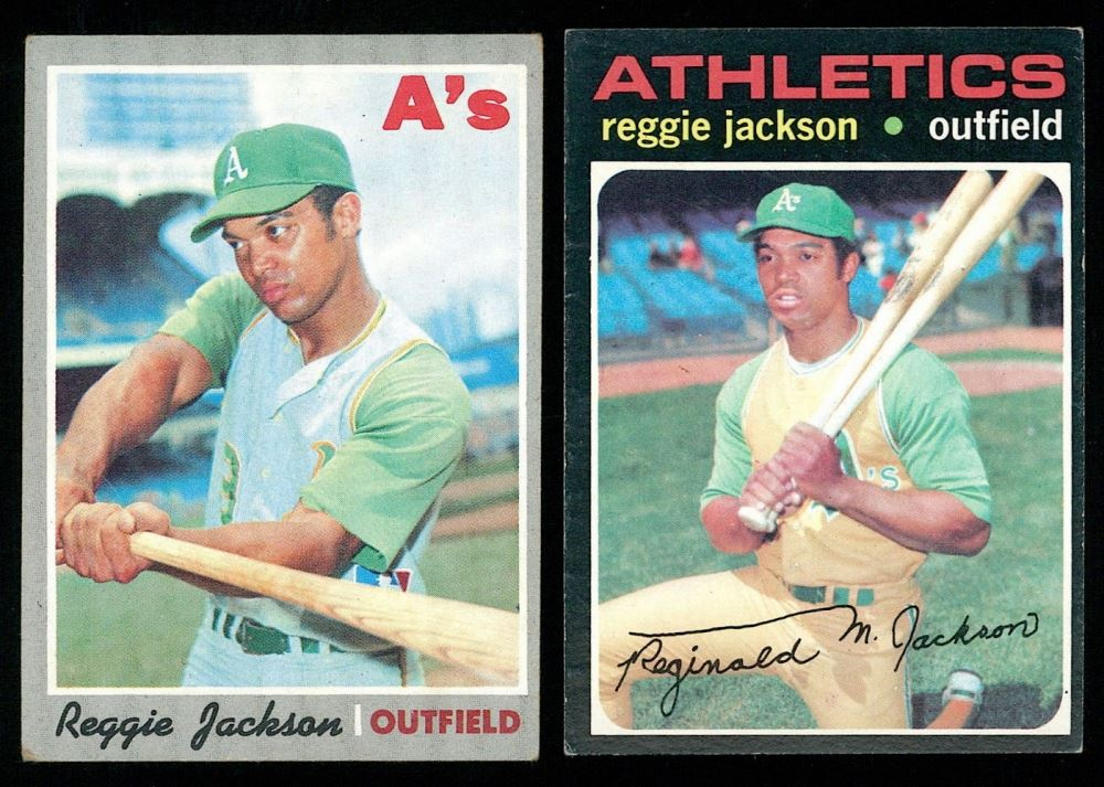 Lot Of 2 Reggie Jackson Baseball Cards With 1970 Topps