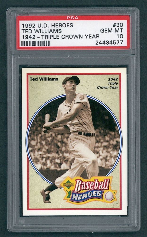 2654e1dc495 Image 1   Ted Williams 1992 Upper Deck Williams Wax Boxes  30  1942 Triple  ...