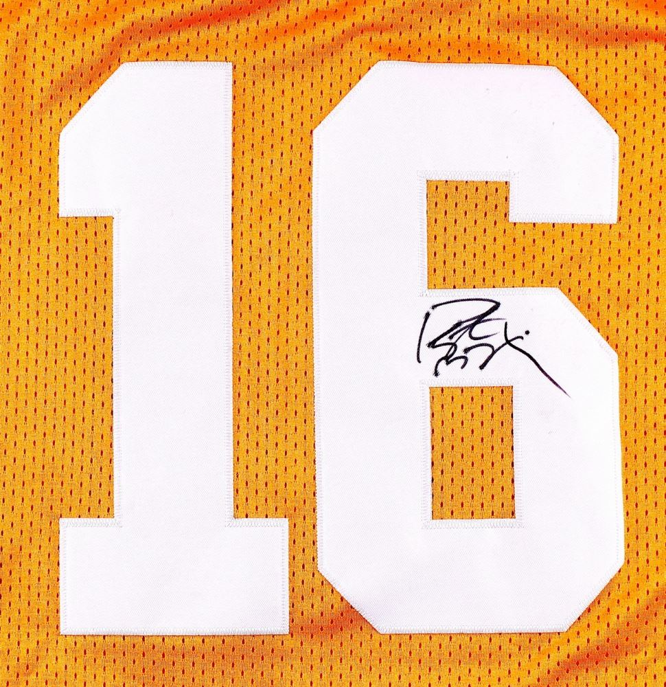 new products ef157 6ab33 Peyton Manning Signed Tennessee Jersey (JSA ALOA)