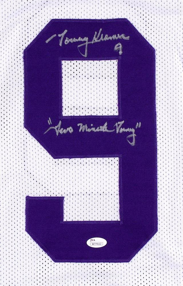 online store 6c8d8 d72da Tommy Kramer Signed Vikings Jersey Inscribed