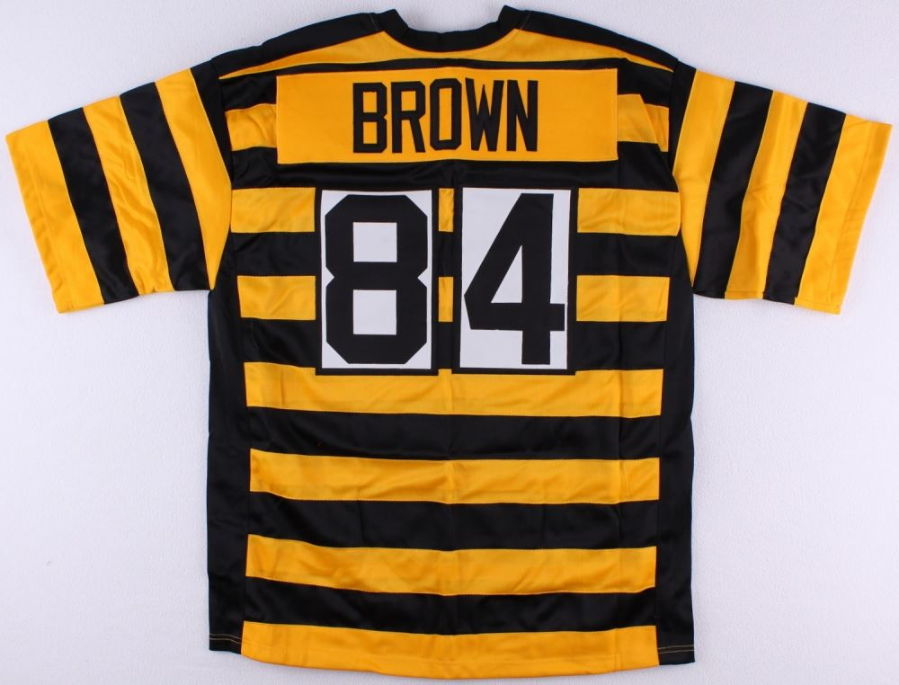 super popular e96d6 33d90 Antonio Brown Steelers On-Field Style Custom Stitched ...