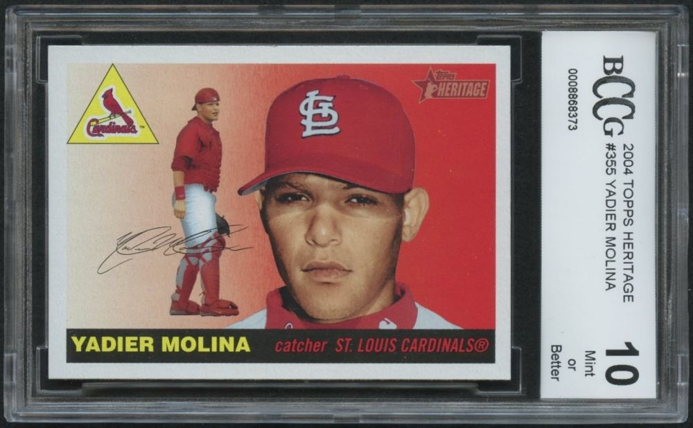 Yadier Molina 2004 Topps Heritage 355 Rc Bccg 10