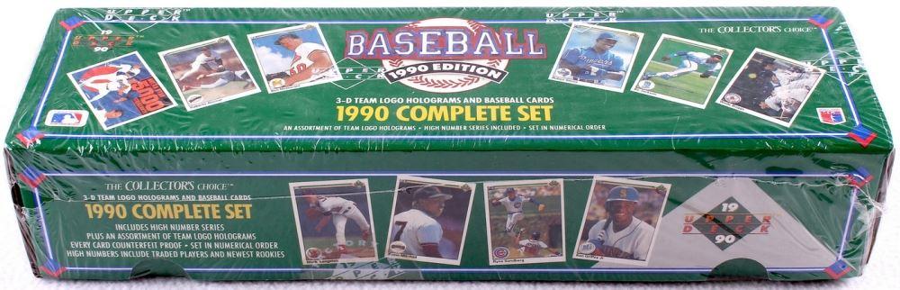 1990 Upper Deck Complete Set Of 800 Baseball Cards With 17 Sammy