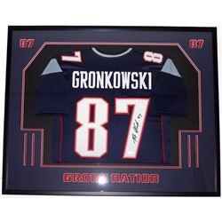 Rob Gronkowski Signed Patriots 33x41 Custom Framed Jersey Display (JSA COA)