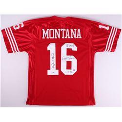 "Joe Montana & Dwight Clark Signed ""The Catch"" 49ers Jersey With (2) Inscriptions (PSA COA)"