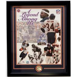Walter Payton Signed Bears 22x27 Custom Framed Photo Display (PSA LOA)
