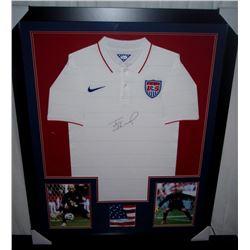Tim Howard Signed Team USA 35x43 Custom Framed Jersey Display (JSA COA)