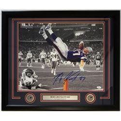 Rob Gronkowski Signed Patriots 22x27 Custom Framed Photo Display (JSA COA)