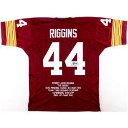 John Riggins Signed Redskins Career Highlight Stat Jersey (JSA COA)