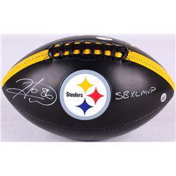 """Hines Ward Signed Steelers Logo Football Inscribed """"SB XL MVP"""" (JSA COA & TSE COA)"""