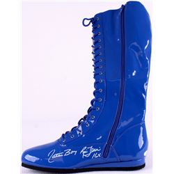 """Ric Flair Signed Boot Inscribed """"16x"""" & """"Nature Boy"""" (JSA COA)"""