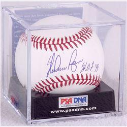 """Nolan Ryan Signed OML Baseball Inscribed """"HOF 99"""" - PSA Graded 9 (PSA Encapsulated)"""