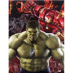 Stan Lee Signed The Hulk 20x26 Poster (PSA COA)