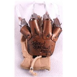 "Robert Englund Signed ""A Nightmare on Elm Street"" Freddy Krueger High Quality Replica Glove Inscribe"
