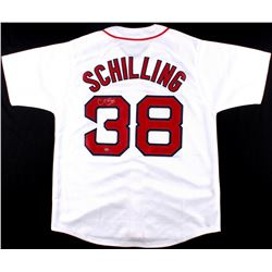 Curt Schilling Signed Red Sox Jersey (Leaf COA)