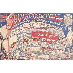 Armadillo World HQ Watermelon Calendar 1971
