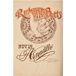 Armadillo World HQ Richard Betts Poster