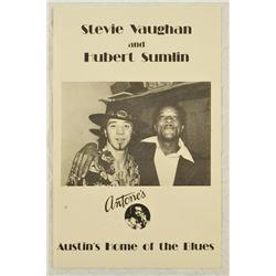 Stevie Ray Vaughan at Antone's Poster Austin Texas