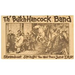 The Butch Hancock Band Poster by Guy Juke